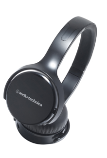 The black pair of Audio-Technica's over-ear headphones