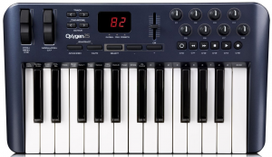 An alternative for a 25-key MIDI keyboard