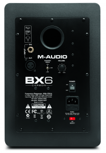 M-Audio BX6 Carbon back view