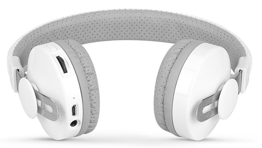 The white version of Lil Gadgets headphones