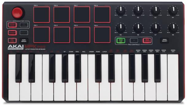 We review the Akai MPK Mini MkII MIDI keyboard controller