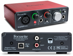We review the Scarlet Solo interface by Focusrite