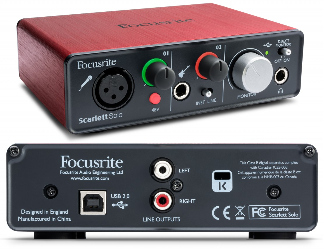 focusrite scarlett solo usb audio interface review the wire realm. Black Bedroom Furniture Sets. Home Design Ideas