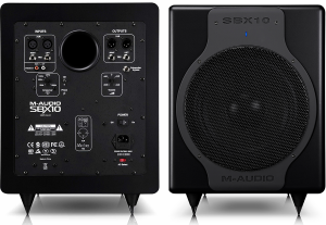 We review the studio subwoofer SBX10 by M-Audio