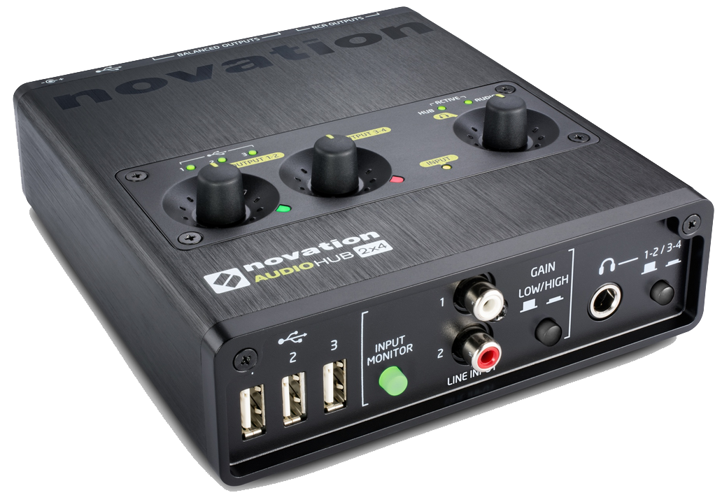 novation audiohub 2 4 audio interface and usb hub review the wire realm. Black Bedroom Furniture Sets. Home Design Ideas