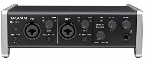 Tascam's interface is a solid choice