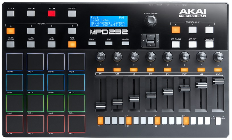 akai mpd232 midi pad controller review the wire realm. Black Bedroom Furniture Sets. Home Design Ideas