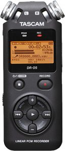 A portable audio recorder for voices