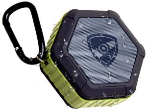 A solid wireless speaker with waterproof functionality