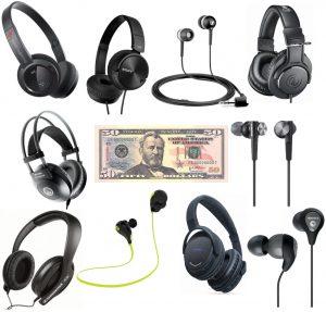 We highlight the best headphones for an under 50 dollar budget