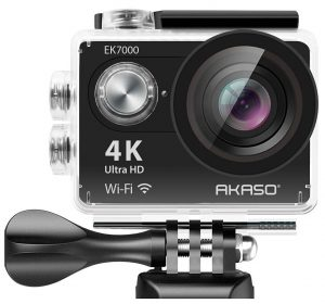 A highly-rated action video camera under $200