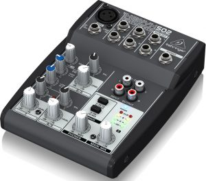 Music equipment for beginners will at times include an audio mixer