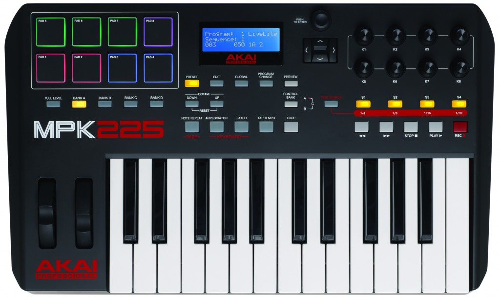The Akai Professional MPK 225 USB MIDI controller review