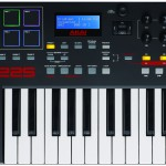 A 25-key MIDI keyboard above the Mini