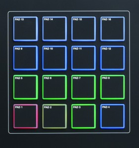 The MPK261 RBG backlit drum pads