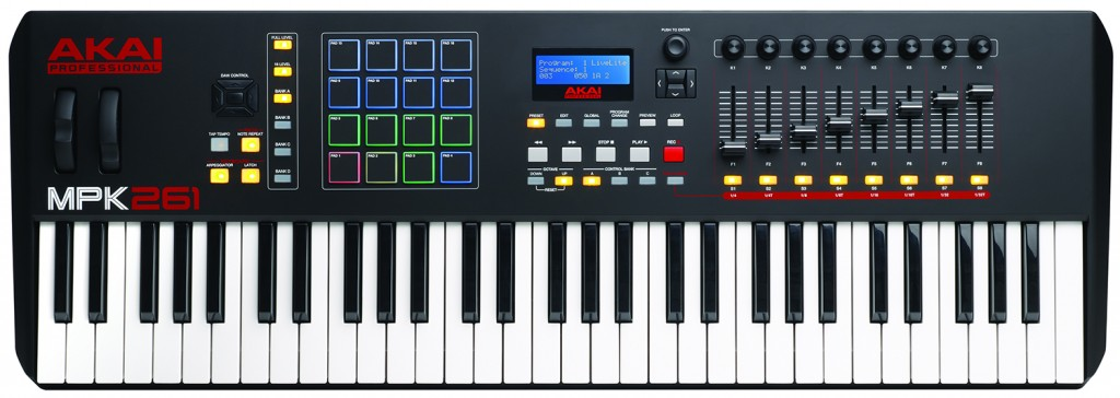 The new Akai MPK261 61-key USB MIDI keyboard