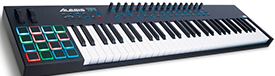 Alesis' 61 key MIDI keyboard