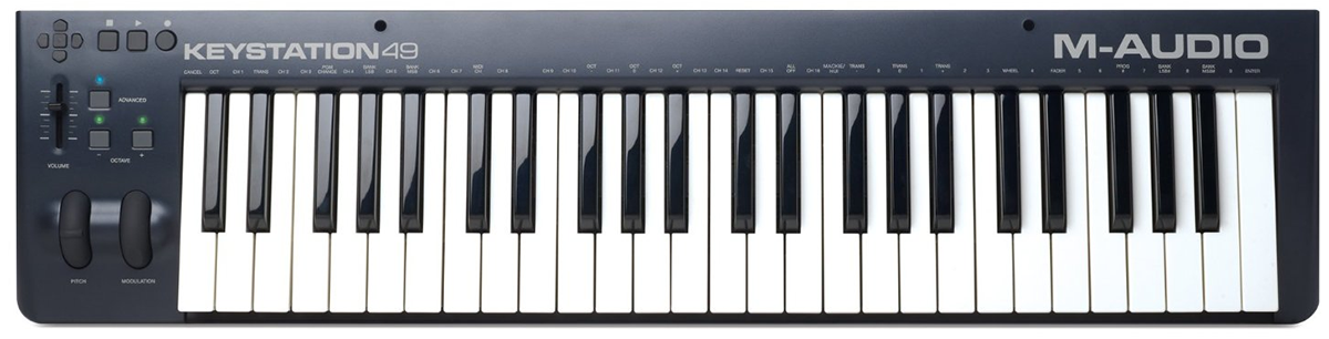 A simple MIDI keyboard without pads