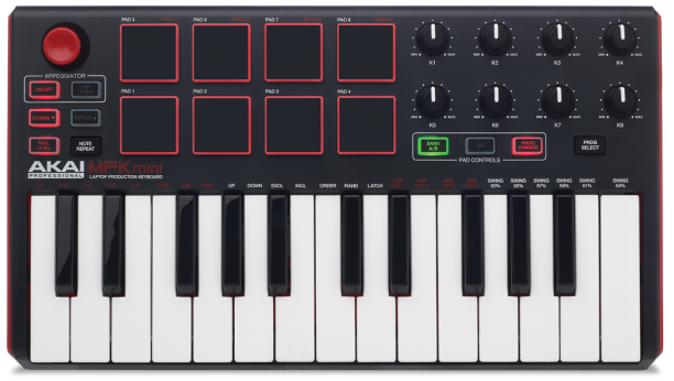 We review the Akai MPK Mini MkII MIDI keyboard controller