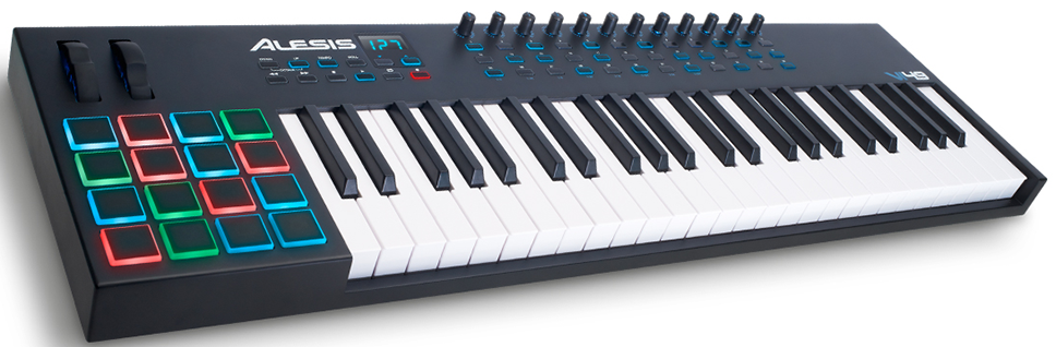Our review of the VI49 MIDI keyboard controller with pads by Alesis
