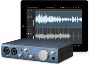 The AudioBox iTwo works seamlessly with iPads