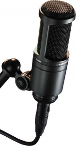 An in-the-middle condenser microphone