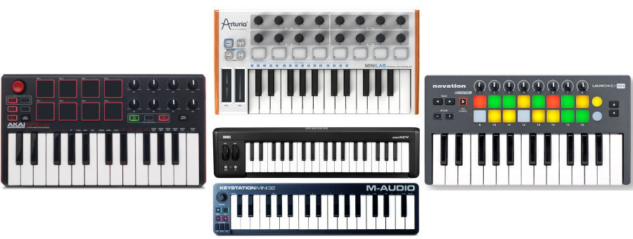 We review the best mini small MIDI keyboard controllers