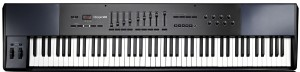 An in-the-middle 88-key MIDI keyboard