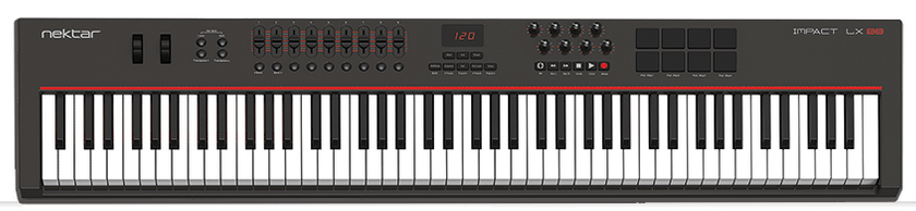 A solid 88-key MIDI keyboard