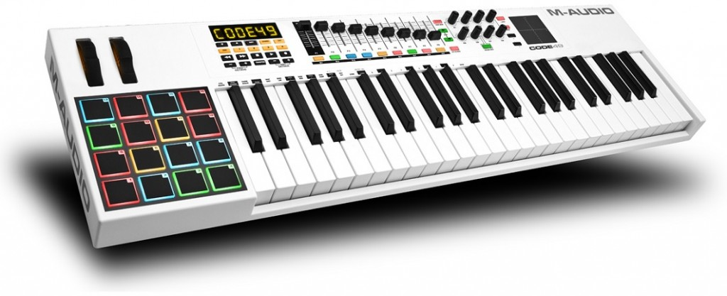 We review the new Code 49 MIDI Keyboard by M-Audio