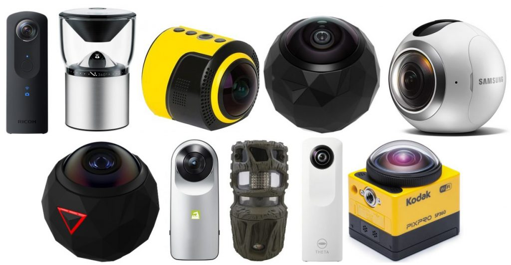 We review the ten best 360 degree cameras for the money