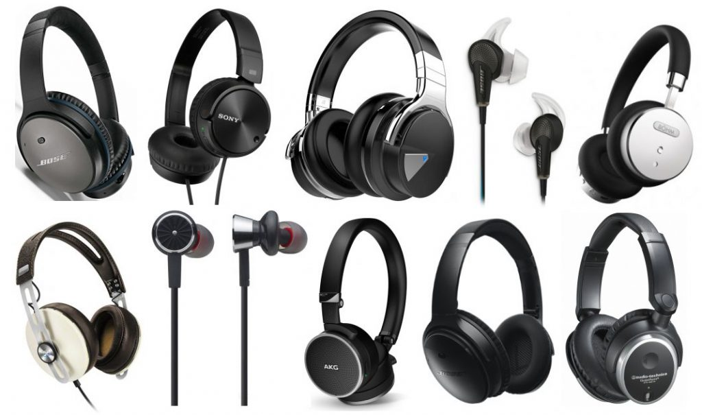 We review the ten best noise cancelling headphones, earbuds and over-ear
