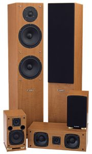 A very high quality home theater speaker system and nice look