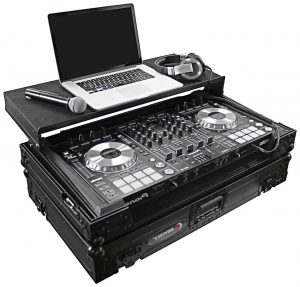 A DJ gear setup needs something to rest it all on