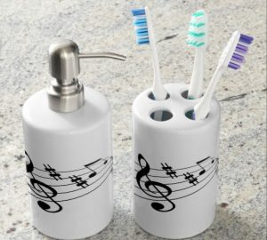A bathroom music theme? Perhaps for some music lovers!