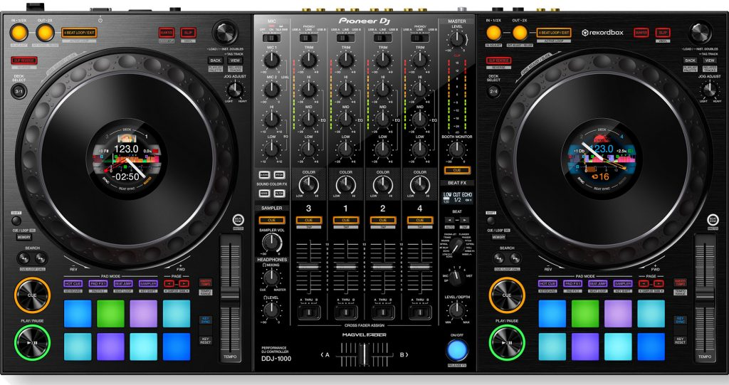 Your front view of the Pioneer DDJ-1000
