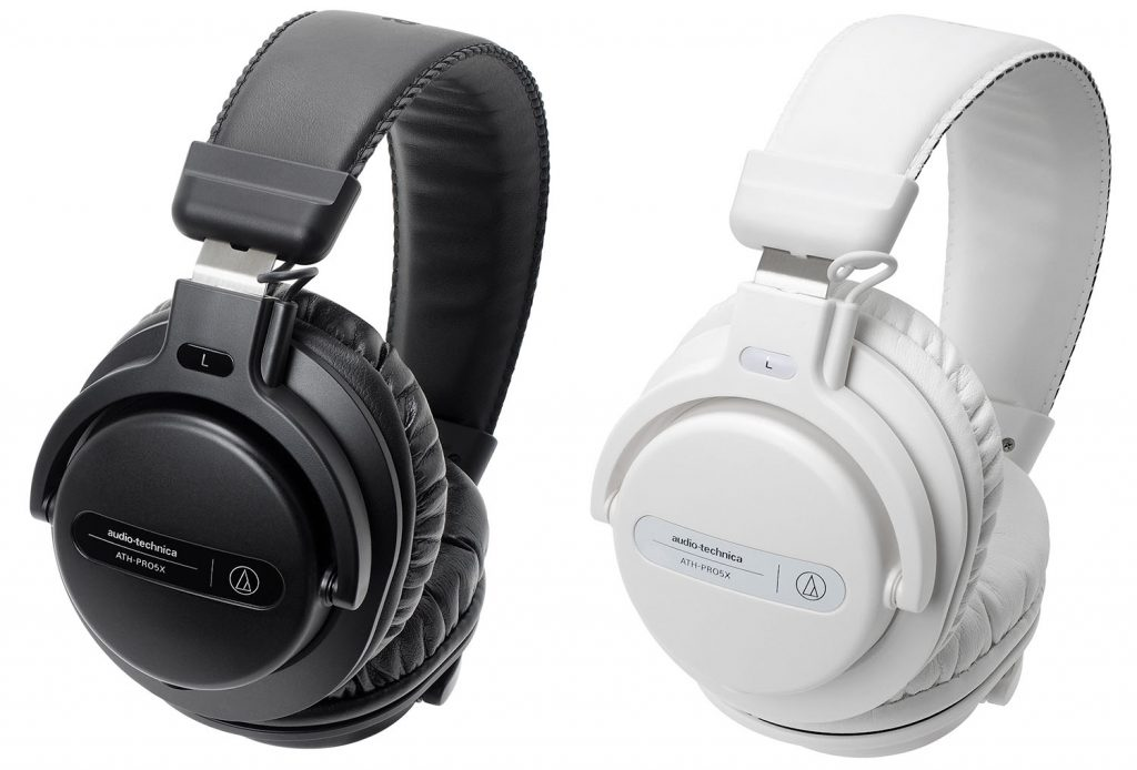 The color options of the ATH-PRO5x DJ headphones