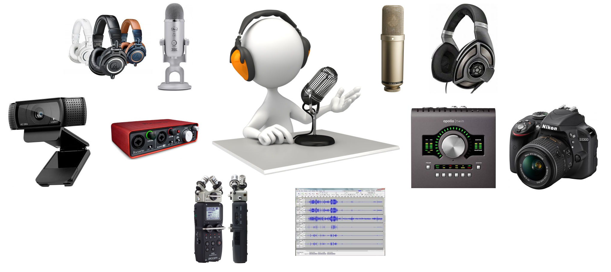 the best podcast equipment and gear the wire realm. Black Bedroom Furniture Sets. Home Design Ideas