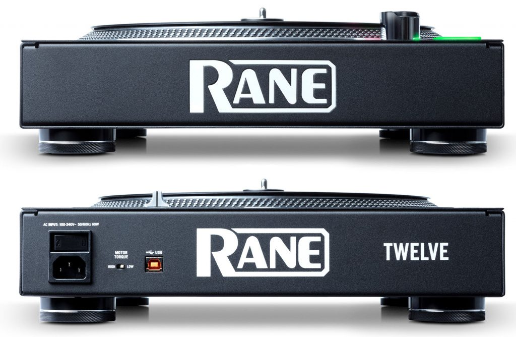 The sides of the Rane Twelve turntable