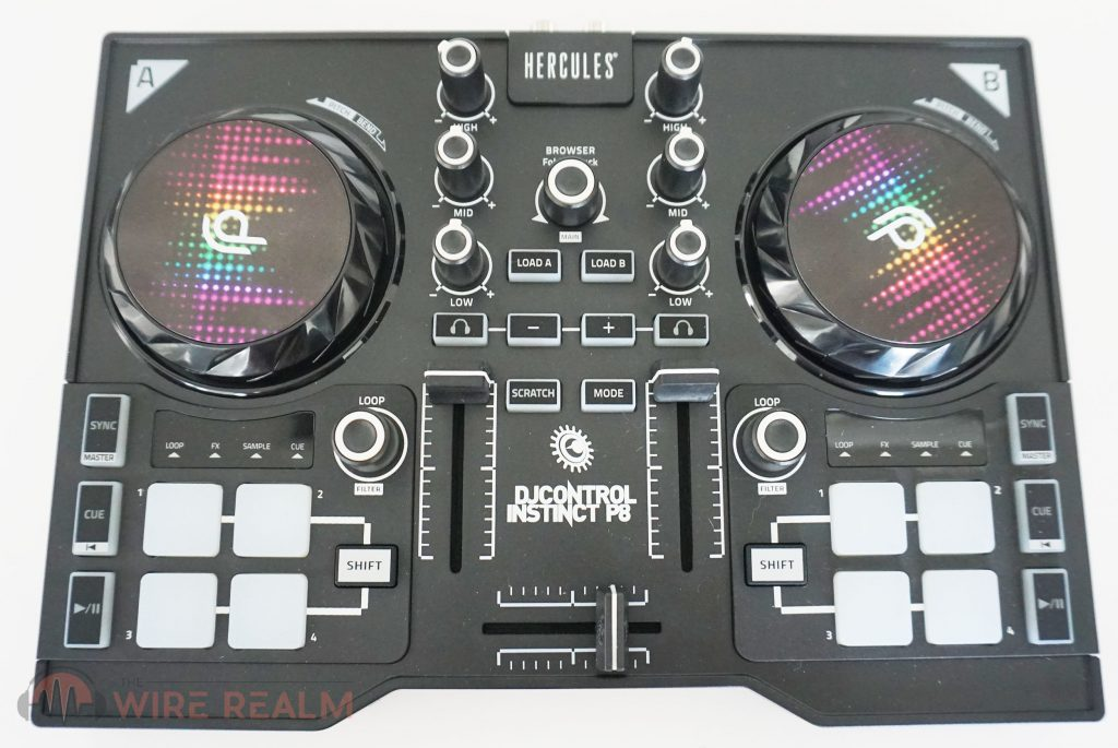 A clear look at the Hercules DJControl Instinct P8 DJ Controller