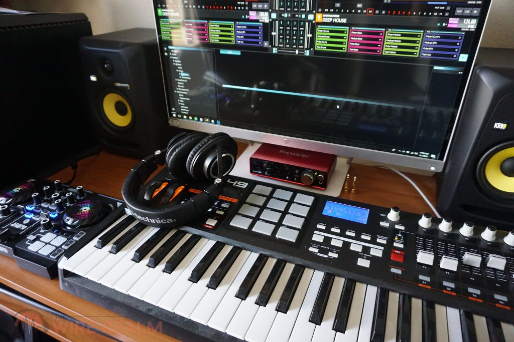 Our home studio with the Hercules DJControl Instinct P8 DJ Controller
