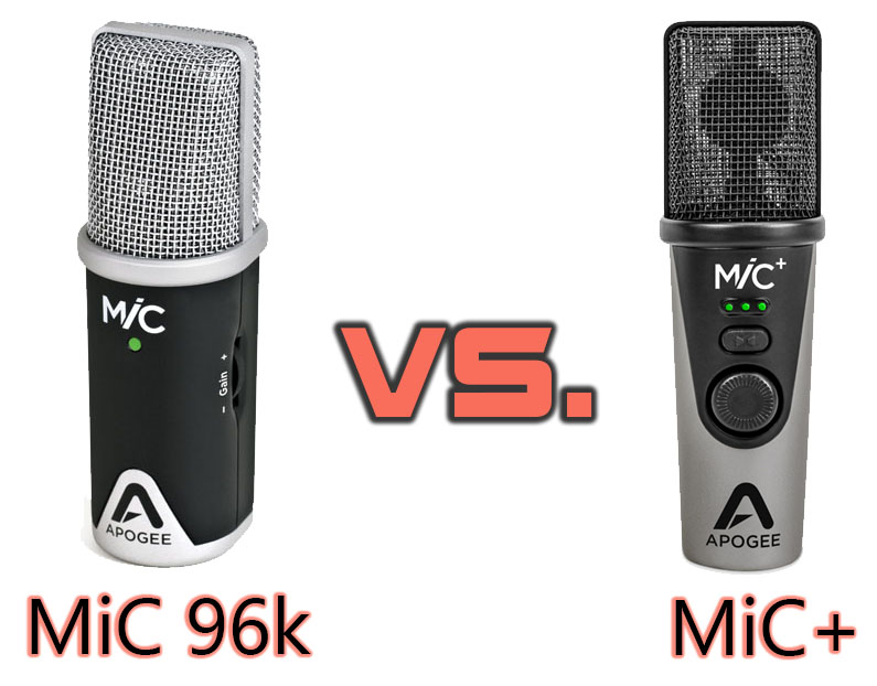 Some comparisons of the MiC+ USB microphone