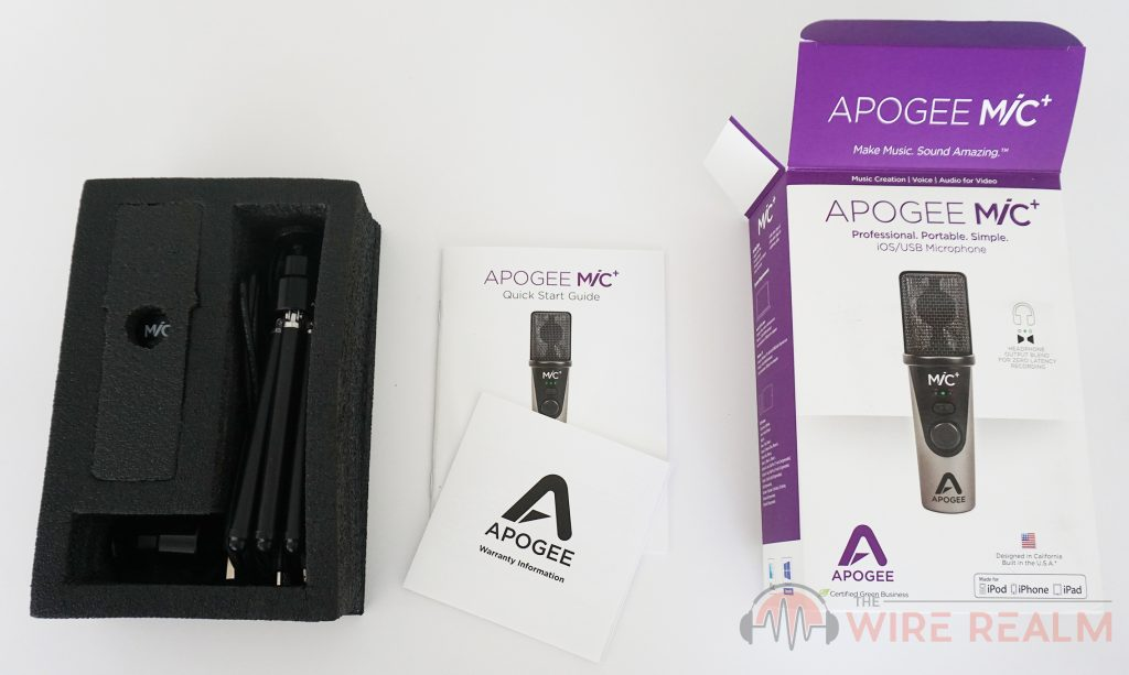 The Apogee MiC Plus box opened