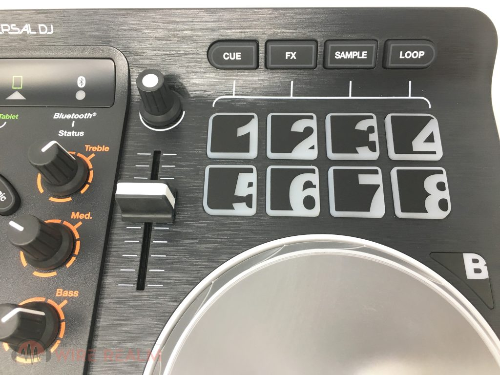 A close up of the Universal DJ's build