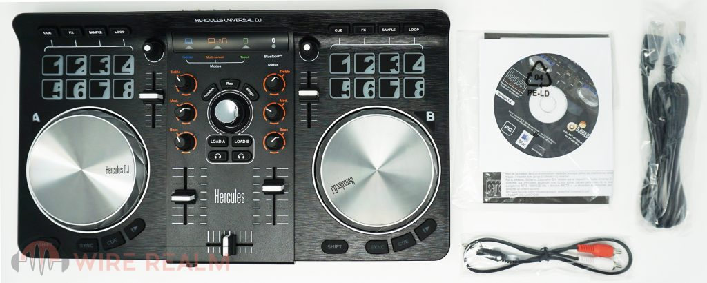 What's in the DJ controllers box?