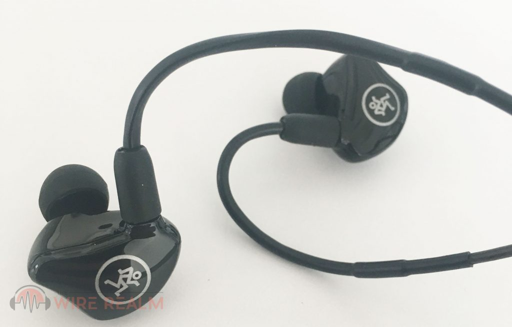 An up close look at the MP-220 in-ear monitors
