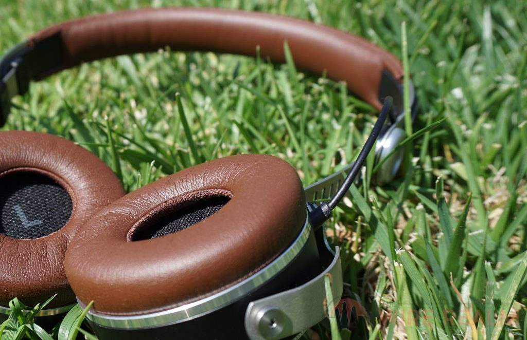 The Beyerdynamic Aventho Wireless Headphones in the grass