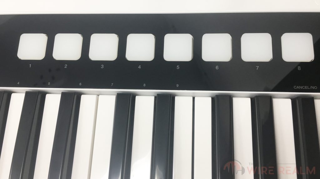 The keys and drum pads of the iRig Keys I/O