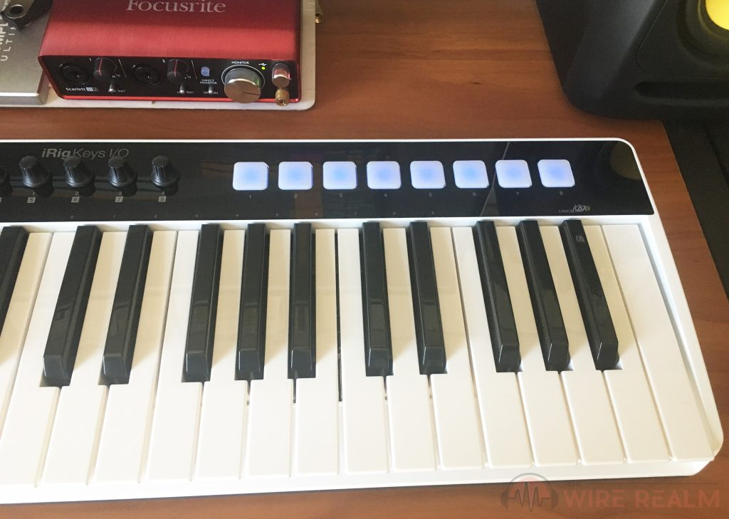 An action shot of the iRig Keys I/O in action