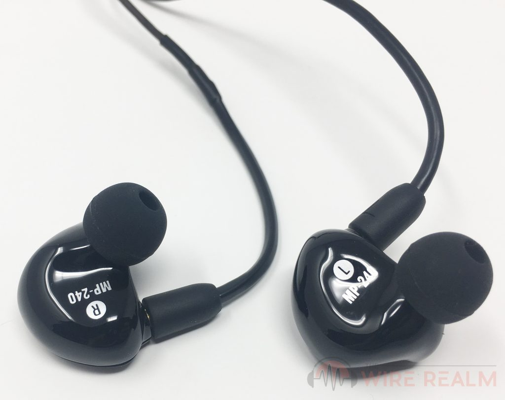 The MP-240 in-ear monitors by Mackie